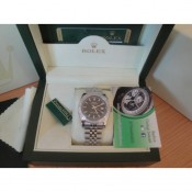 Rolex Replica Datejust Special Edition Diamond Nero Barrette