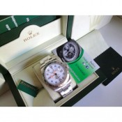 Rolex Replica Explorer Big Basilea 42mm Bianco Dial Orologio