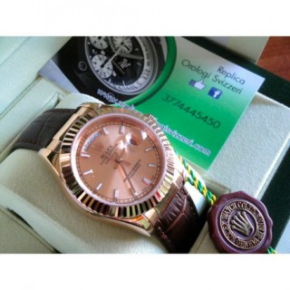 Rolex Daydate New Basilea 2017 Pelle Strip Rose Edition Imitazione Replica