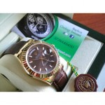 Rolex Daydate New Basilea 2017 Pelle Strip Marrone Dial Edition Imitazione