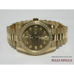 Rolex Day Date Repliche Oro Ghiera con Diamanti