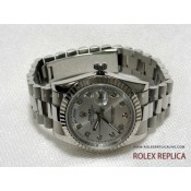 Rolex Day Date Repliche Quadrante Argento con Diamanti