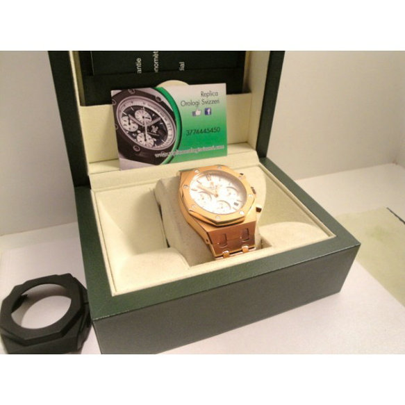 Audemars Piguet replica offshore leo messi rose gold white dial limited edition orologio replica