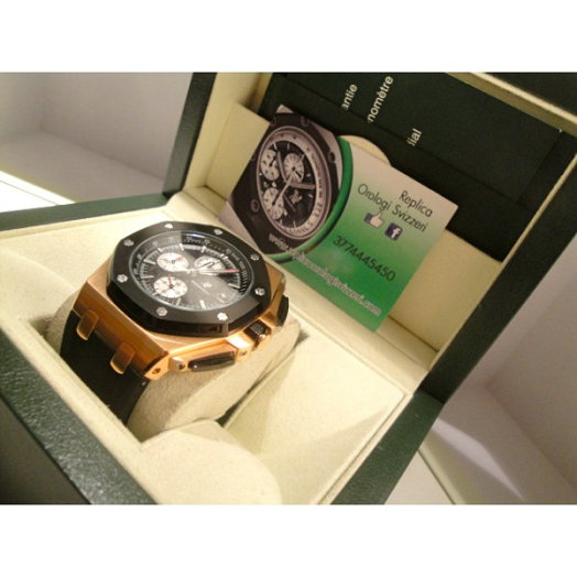 Audemars Piguet replica offshore The Legacy rose gold caucciù strip limited edition orologio replica