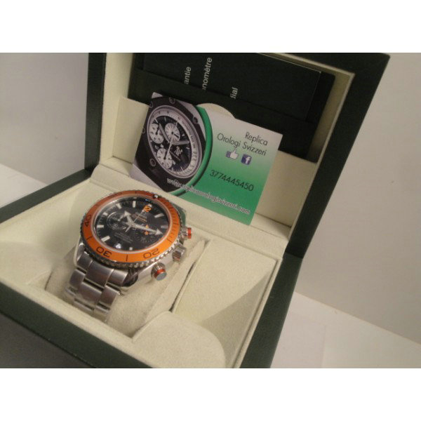 Omega replica speedmaster co-axial orange imitazione orologi