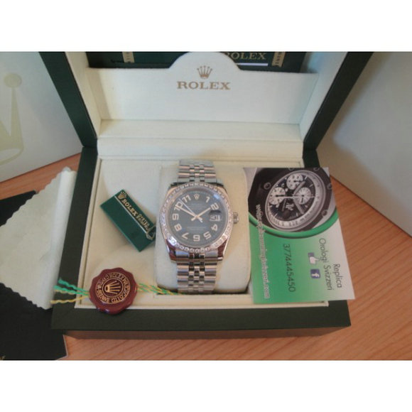 Rolex replica datejust special edition diamond blue arab