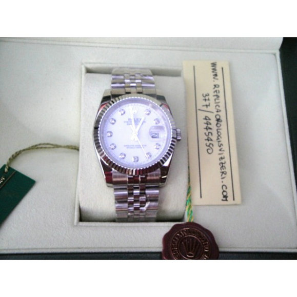 Datejust Jubilee White Brillantine Imitazione Replica