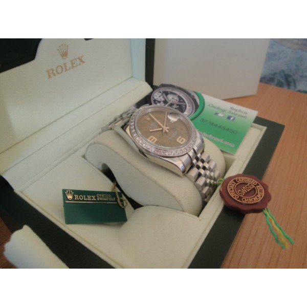 Rolex replica datejust special edition diamond grey flower design