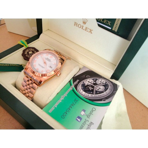 Rolex replica datejust rose gold white floor imitazione orologio replica