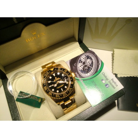 Rolex replica Gmt Master II full oro black floor imitazione replica