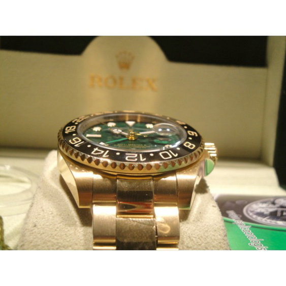 Rolex replica GMT Master II full oro green floor imitazione replica