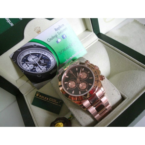 Rolex Daytona Everose Black Edition imitazione Replica