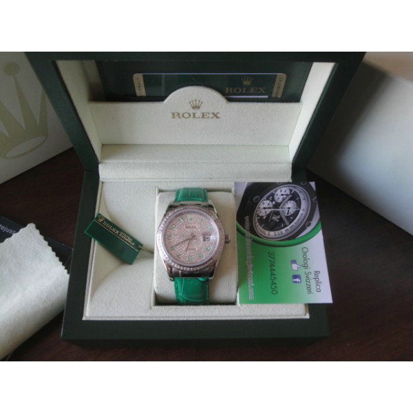 Datejust Full Diamond Green Edition Imitazione Replica