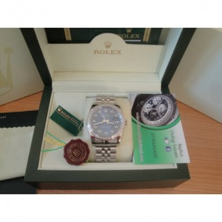 Rolex Replica Datejust Special Edition Diamond Blu Brillantini