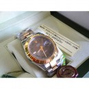 Rolex Replica Datejust Acciaio Oro 41mm Bi-Color Ardesia Roman Verde