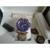 Rolex Submariner Gold Blu Edition Imitazione Replica