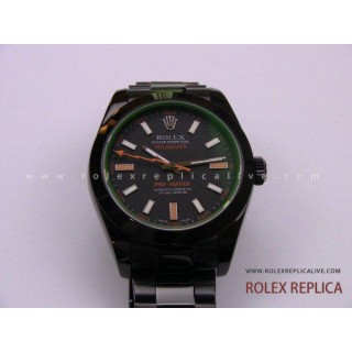 Rolex Milgauss Repliche Pro Hunter Pvd Nero 2836-2 Swiss Eta