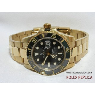 Rolex Submariner Date Repliche Quadrante Nero Oro Swiss Eta
