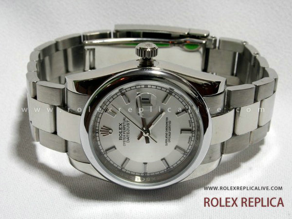 Rolex Date Just Replica Quadrante Bianco
