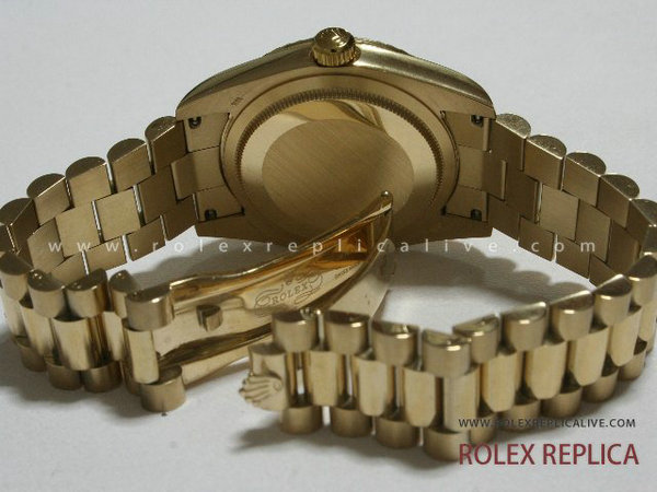 Rolex Day Date Replica Quadrante Nero Oro  (13)
