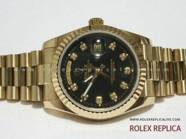 Rolex Day Date Replica Quadrante Nero Oro