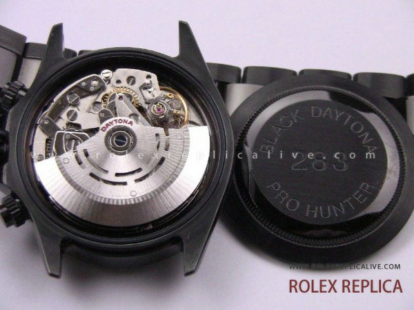 Rolex Daytona Replica Pro Hunter Pvd Nero A7750 Swiss Eta  (11)
