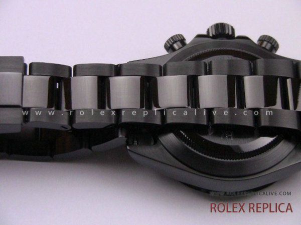 Rolex Daytona Replica Pro Hunter Pvd Nero A7750 Swiss Eta  (13)