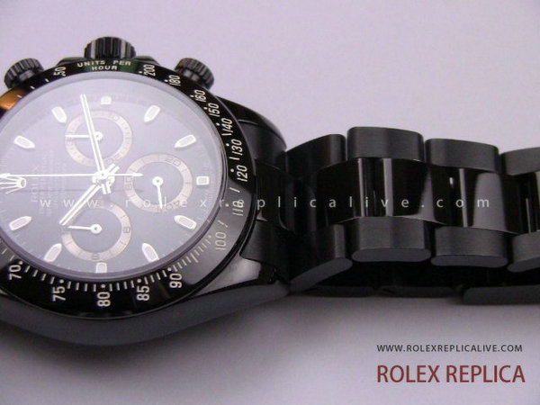 Rolex Daytona Replica Pro Hunter Pvd Nero A7750 Swiss Eta  (15)