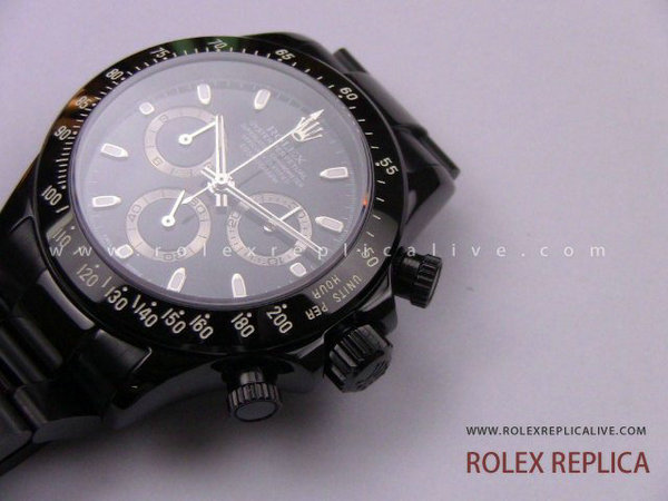 Rolex Daytona Replica Pro Hunter Pvd Nero A7750 Swiss Eta  (16)