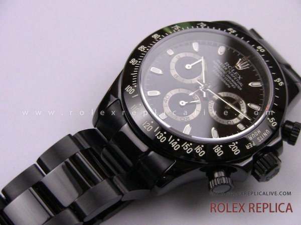 Rolex Daytona Replica Pro Hunter Pvd Nero A7750 Swiss Eta  (17)