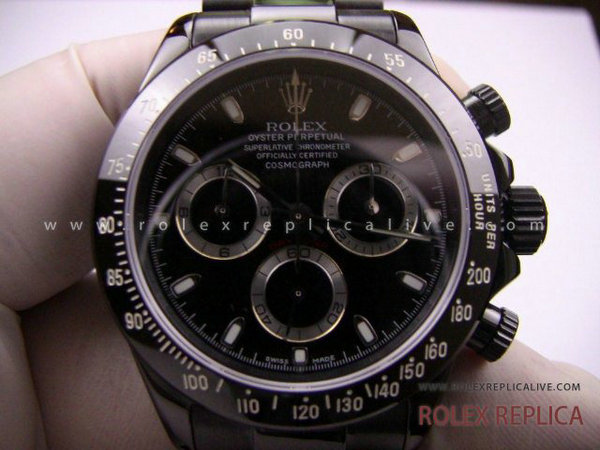 Rolex Daytona Replica Pro Hunter Pvd Nero A7750 Swiss Eta  (21)