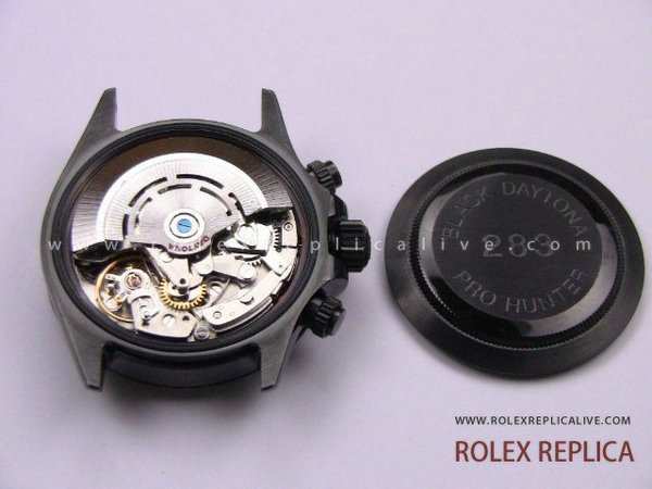 Rolex Daytona Replica Pro Hunter Pvd Nero A7750 Swiss Eta  (22)