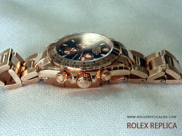 Rolex Daytona Replica Quadrante Nero Everose