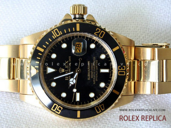 Rolex Submariner Date Replica Quadrante Nero Oro